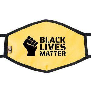 Black Lives Matter Mask Yellow Final Price